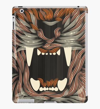 tiger lilly line colour 02 iPad Case/Skin