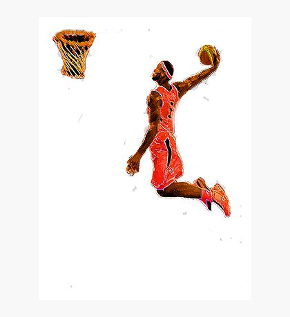 Basketball Dunk Photographic Print