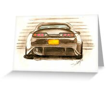 Toyota Supra  Greeting Card