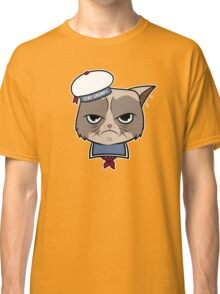 Stay Grumpy The Marshmallow Cat Classic T-Shirt