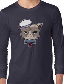 Stay Grumpy The Marshmallow Cat Long Sleeve T-Shirt