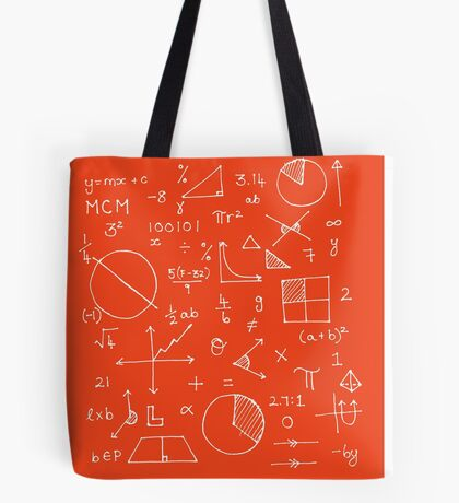 Math formulae (red) Tote Bag