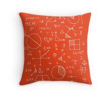 Math formulae (red) Throw Pillow