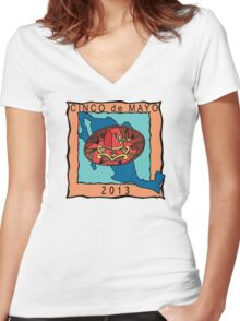 Cinco de Mayo 2013 Women's Fitted V-Neck T-Shirt