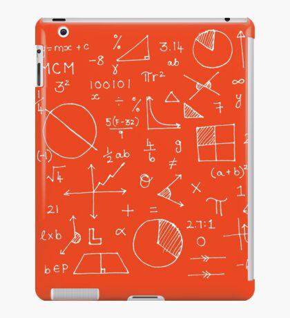 Math formulae (red) iPad Case/Skin