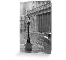 Rain in London Greeting Card