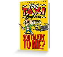Tiny Taxi Driver Greeting Card