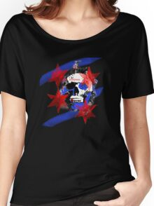 Chicago Skull Flag Women's Relaxed Fit T-Shirt