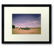 Lonely Pickup Framed Print