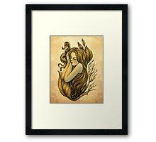 Little Rhizome - She Who Sleeps Framed Print