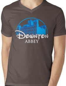 Downton Abbey Castle Mens V-Neck T-Shirt