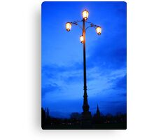Reality Checkpoint lampost at dusk Canvas Print