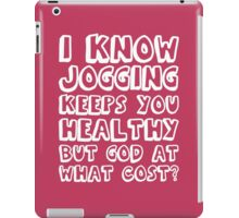 AT WHAT COST? (white font) iPad Case/Skin