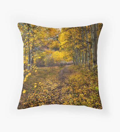 Golden Trail Throw Pillow