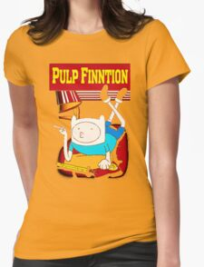 Funny Pulp Finntion Adventure Time Womens Fitted T-Shirt