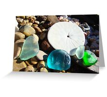 Beach Rock Garden Art Prints Seaglass Sand Dollar Greeting Card