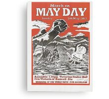 May Day Victoria Poster 2013 Canvas Print