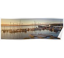 Tamar River dock and marina sunrise Poster