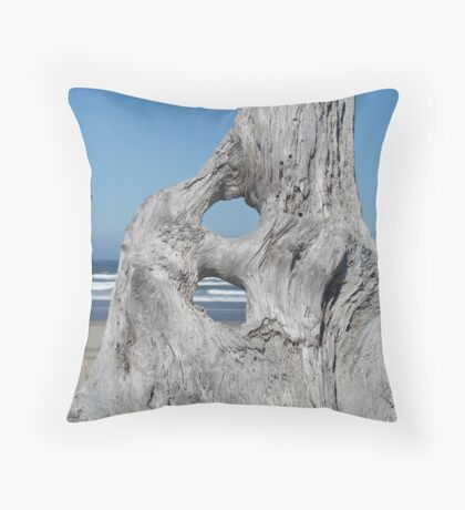 DRIFTWOOD art prints Ocean Coastal Shore Throw Pillow