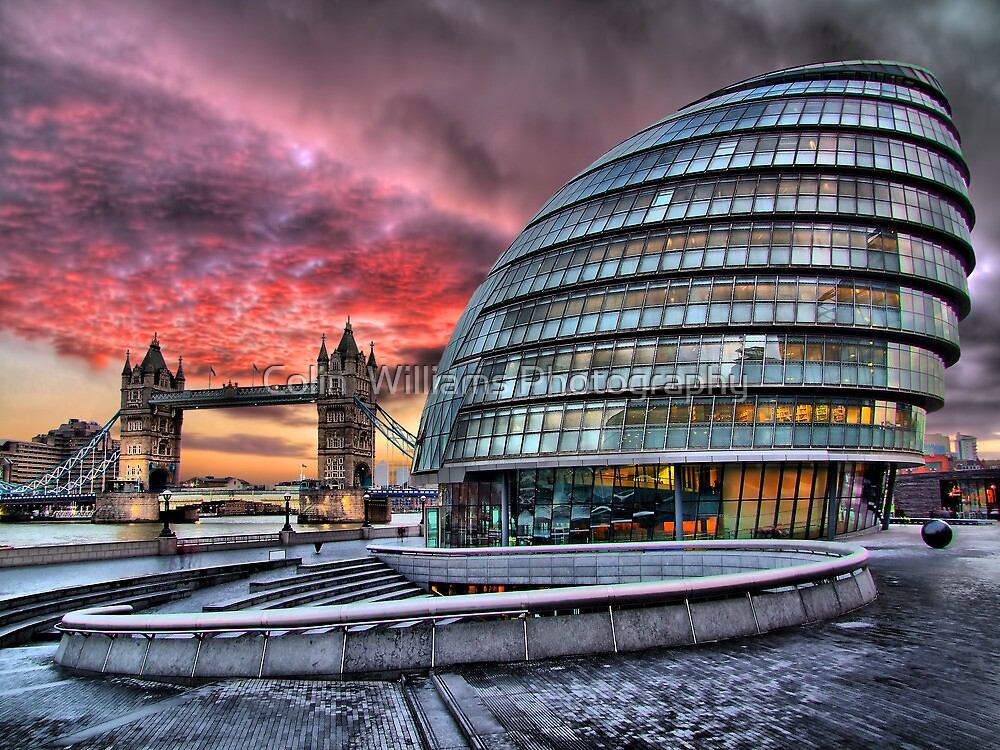 City Hall and Tower Bridge - HDR by Colin  Williams Photography