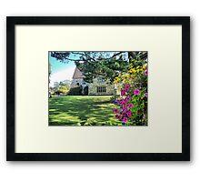 Michelham Priory,,, Flowers Framed Print