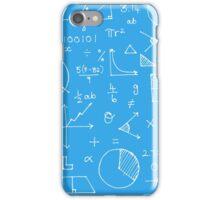 Math formulae (blue) iPhone Case/Skin