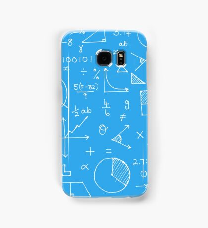 Math formulae (blue) Samsung Galaxy Case/Skin