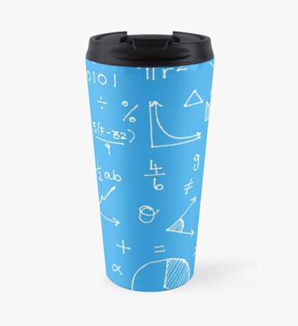 Math formulae (blue) Travel Mug