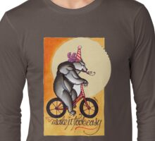 bear on a bicycle, natural talent shirt Long Sleeve T-Shirt