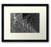 Black and White Abstract of LACMA Framed Print