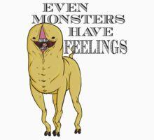 EVEN MONSTERS HAVE FEELINGS! Happy Monster by FreakyCreature