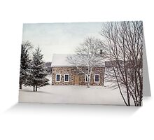 little stone house Greeting Card