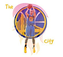 NBA Stephen Curry Warriors Fire Photographic Print