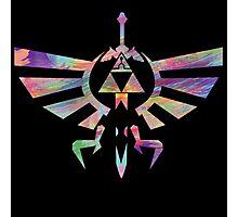 The Legend of Zelda - Hyrule Crest + Master Sword // Water Color Edition Photographic Print