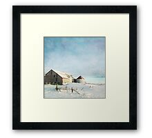 evening at the barn Framed Print