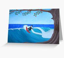 Lone surfer Greeting Card