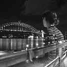 Self Portrait  at the Sydney Harbour Bridge. by Emily-RoseIrene