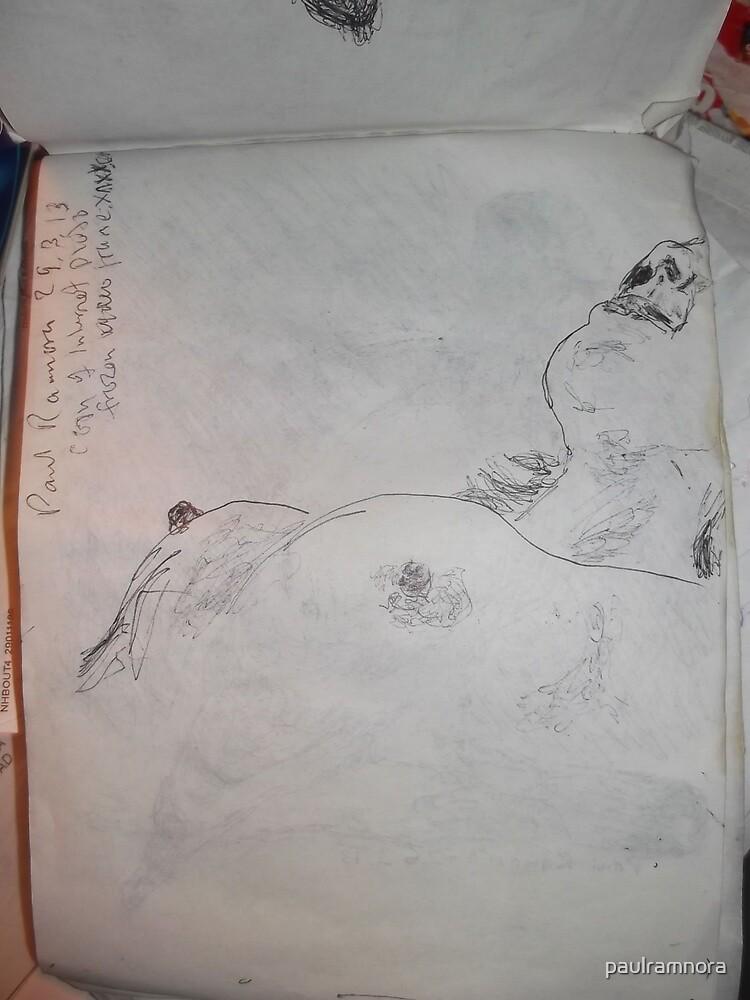Female Nude III -(290313)- A5 sketchpad/Black Ink Pen by paulramnora