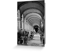 Siesta time at Placa Reial (B+W) Greeting Card