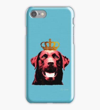 Dog with a crown. iPhone Case/Skin