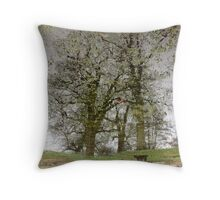 Speckled Green Sleeves  Throw Pillow