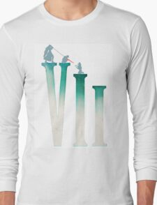 Final Fantasy VII: The Sacrifice Of Cloud - Numbers and Characters REMADE Long Sleeve T-Shirt