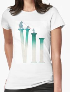Final Fantasy VII: The Sacrifice Of Cloud - Numbers and Characters REMADE Womens Fitted T-Shirt