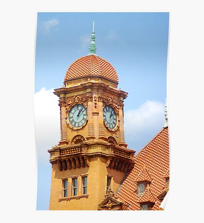 Main St. Station Clock Tower Poster