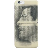 Castiel and Holy Text iPhone Case/Skin