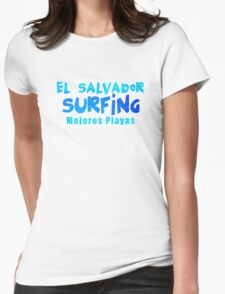 El Salvador Surfing Womens Fitted T-Shirt