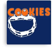 Funny Monster Cookies Canvas Print