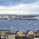 Easter at Cardiff Bay, South Wales. Temp. - 6', snow flurries but at least no rain. by Poverty