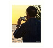 Shooting the Sunset Art Print