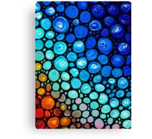 Abstract 2 - Colorful Mosaic Art blue Aqua Red Canvas Print
